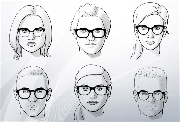 Face Shape Guide For Eyeglasses Shopping